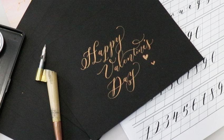 Thumbnail calligraphy